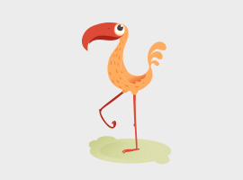 Free Vector Cute Orange Bird