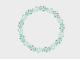 Laurel Spring Frame Vector
