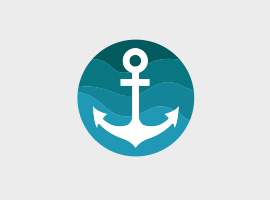 Cute Free Vector Anchor