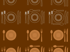 Free Vector Dinner Plate Settings