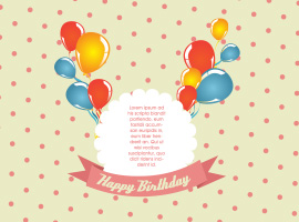 Polka Dot Birthday Card Vector