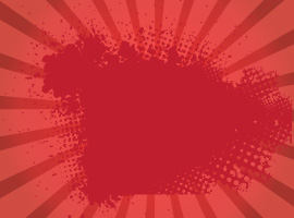 Red Grunge Sunburst Vector