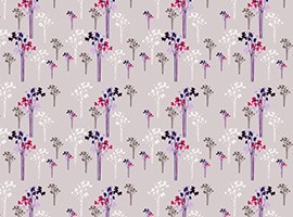 Retro Flowers Vector Background