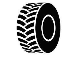 Free Vector Black Tractor Tire