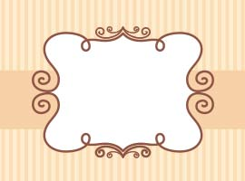 Vintage Striped Scrapbook Label Vector
