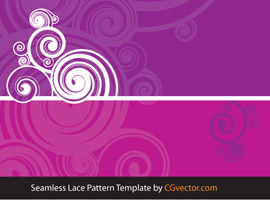 Seamless Lace Pattern Circle