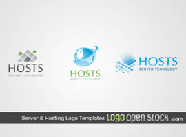 Server and Hosting Logo Templates