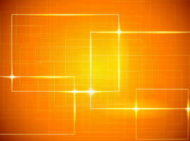 Shiny Orange Vector Background