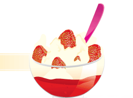 Strawberry Cup Vector