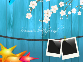 Summertime Picture Vector Background