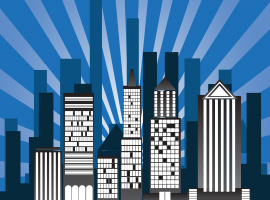 Sunburst Building Vector