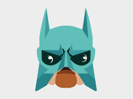 Super Hero Mask Vector