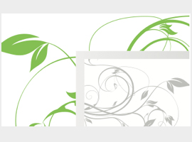 Green Floral Swirl Banner Vector