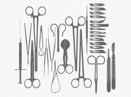 Medical Tools Silhouette