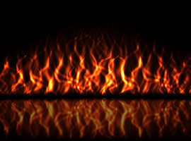 Free Vector Fire on Black Background