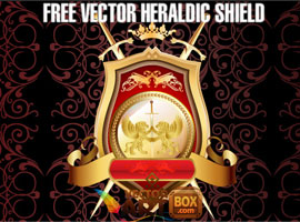 Great Free Vector Heraldic Shield