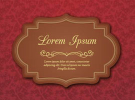 Vintage Label Vector Background