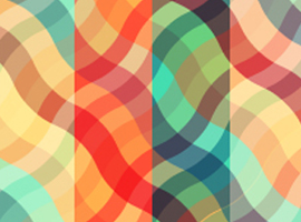 Wavy Plaid Vector Background