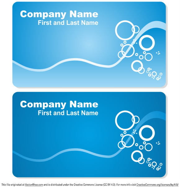 Sea business card set. Free vector business card template.