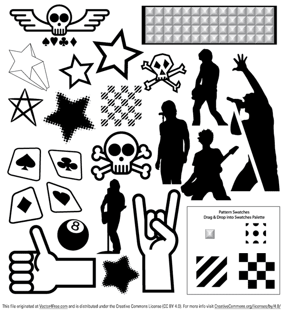 Collection of punk vectors.