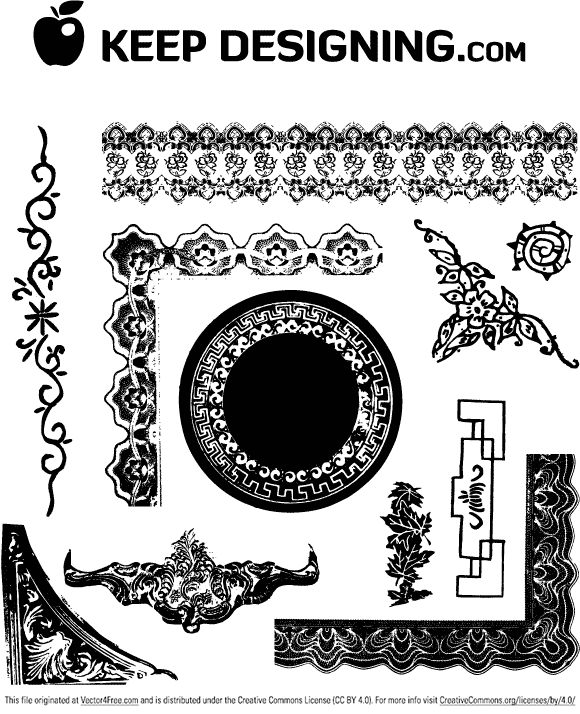 antique picture frames vector. free vector download is a collection of antique frames and ornament vectors. there are several picture