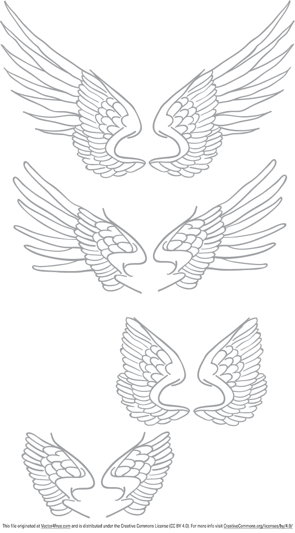 free vectors graphics FREE HAND DRAWN VECTOR WINGS