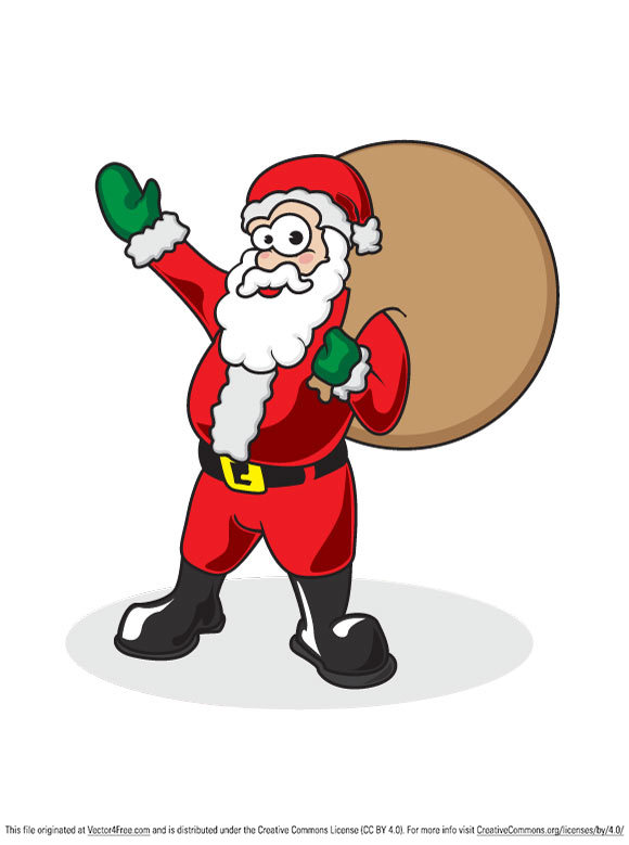 This Free Santa vector for you all to use in all your personal and commercial projects. Just open the PDF in your vector program of choice! Happy Thanksgiving and Merry Christmas!