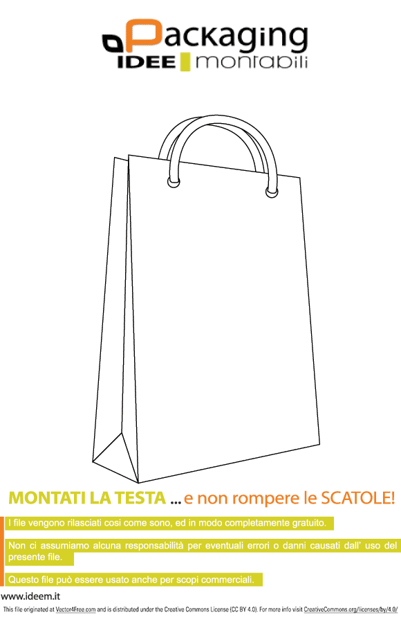 Vector template of bag in the EPS file.