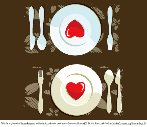 free vectors graphics - Dinner For 2