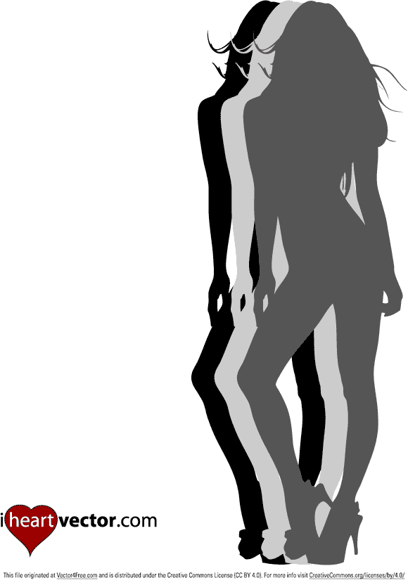 Our pin-up girls will be some of the cleanest silhouette girls you will find anywhere. Use freely in your personal or commercial work.