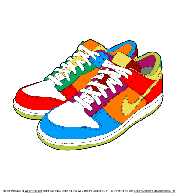 sport shoes free vector art rh vector4free com vector sports gi victor shoes sh8500d