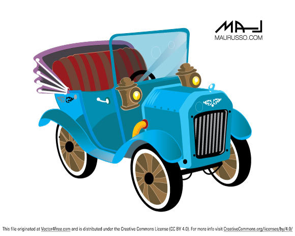 Old car pic in Ai svg files.