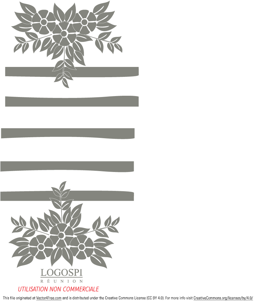 Simple floral logo in the .pdf file.