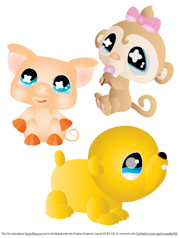 Three vector cuties free for your personal use. Enjoy!