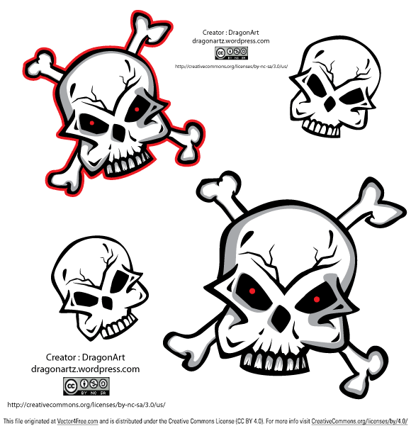 Skull vector design useful as clipart or design element. Have fun using!