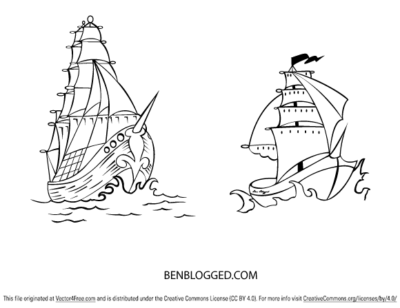 how to draw a pirate ship hard