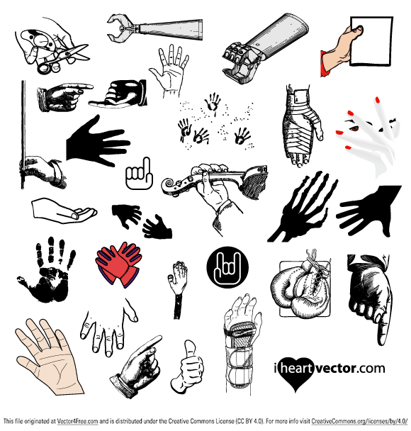 29 free hand vectors for your illustrations.