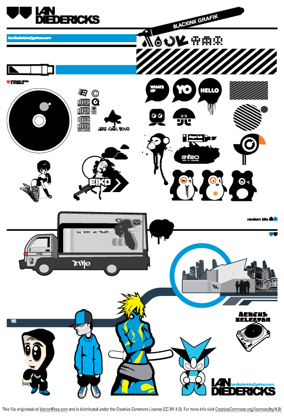 Great vector files from IAN DIEDERICKS, free to use.