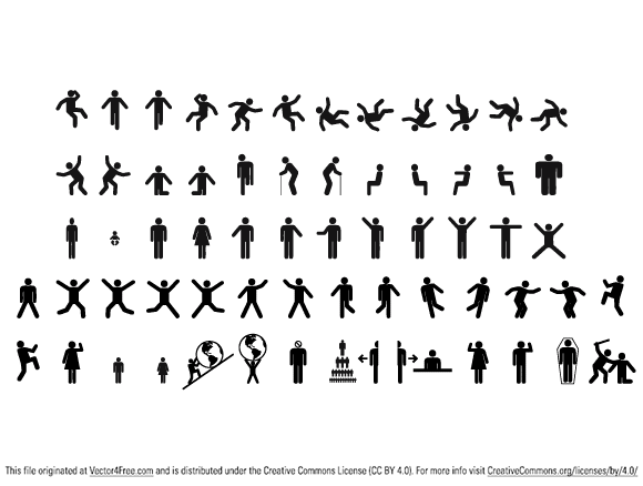 Man & woman sign pictograms