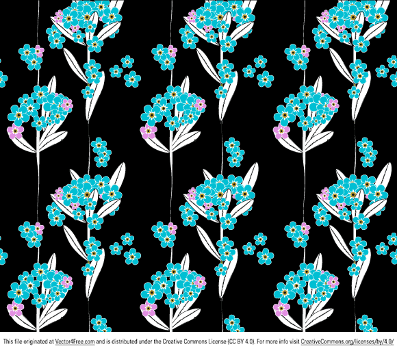 A bit chaotic (as forget-me-nots naturally are) but seamless, believe me, Adobe Illustrator pattern swatches. Free for both personal and commercial use. And yes, forget me not!