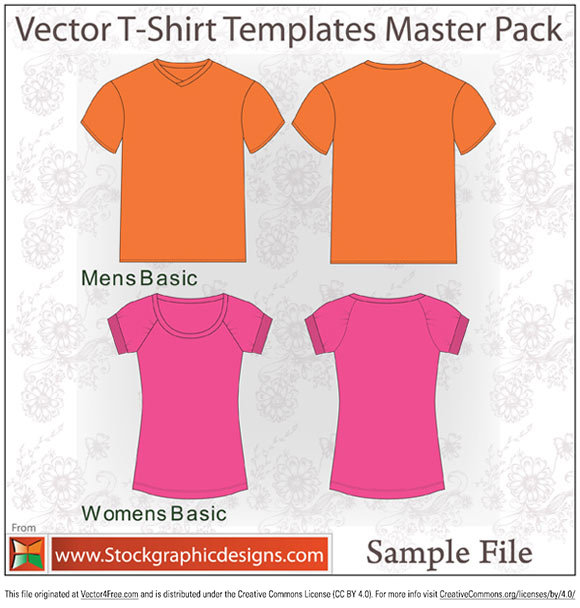 Sample file from t-shirt template vector pack by www.stockgraphicdesigns.com