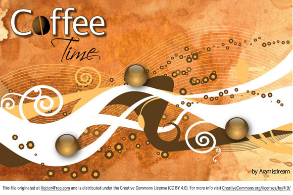 In this free vector illustration colors are inspired to coffee world.