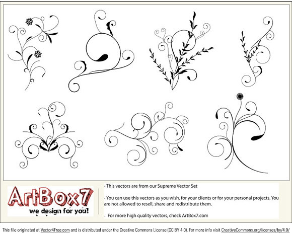In this pack you will find 7 foliage vectors. This vectors are free samples from our Supreme Vector Set.