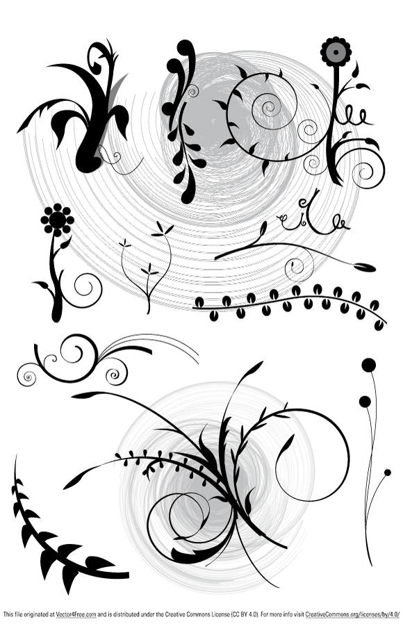 In this pack, you will find 11 floral vectors in ai and eps format by www.vectorvaco.com.