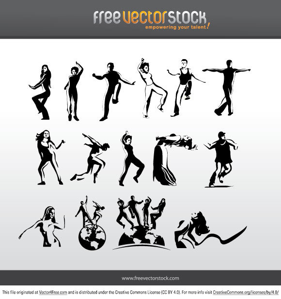 Different styles of dancing