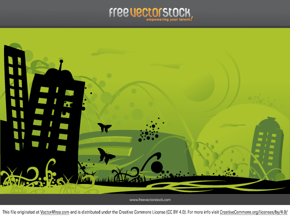 Great Green City vector  in the Ai file.