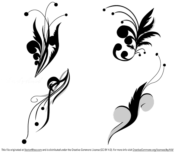 free vectors graphics - Floral Vectors Set