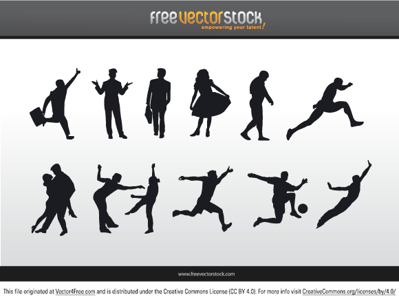 Different Silhouettes of people.