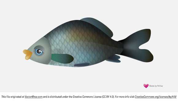 Great free vector fish in the Adobe Illustrator Ai file.
