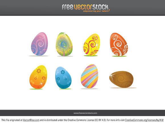 Here we bring to you 8 Easter Eggs vector with colorful design to use in your commercial or non commercial projects for the upcoming celebration. Have a happy Easter and design something nice! Post a comment with an URL to your creation if you do something nice with this, we would love to see it. Cheers! FreeVectorStock.com